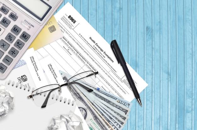 Irs formulario 8965 exenciones de cobertura de salud