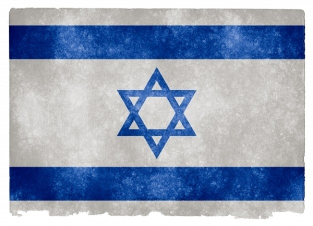 Israel grunge bandera