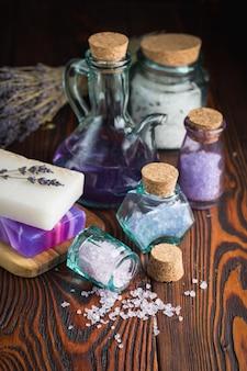 Jabón lavanda y sal marina