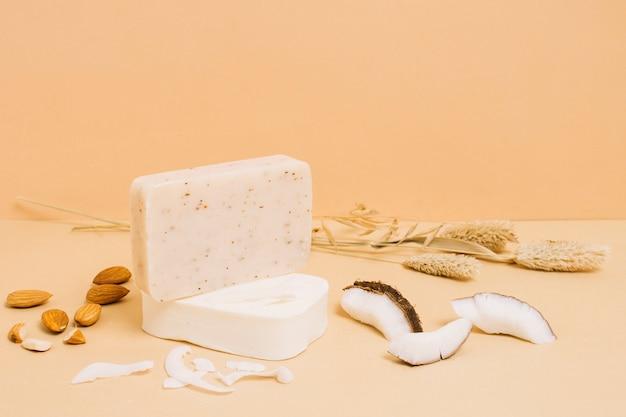 Jabón en polvo de almendras y coco