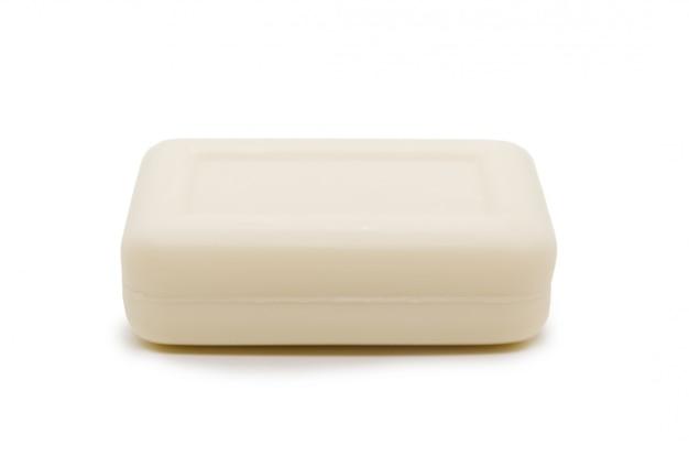Jabón rectangular de color lechoso aislado