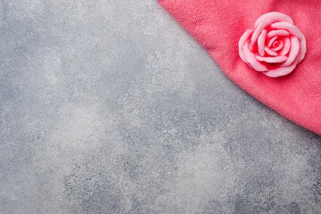 Jabón de rosas hecho a mano, cosméticos y limpieza concept spa