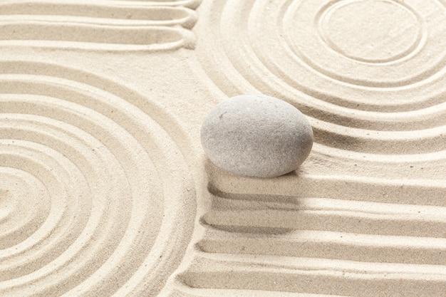 Jardín japonés de piedra zen