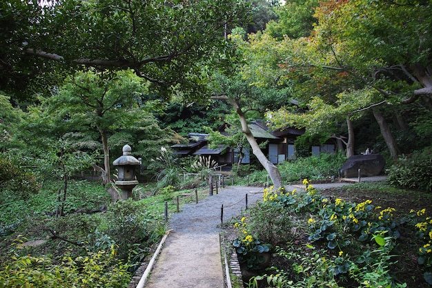 Jardines sankeien en yokohama, japón