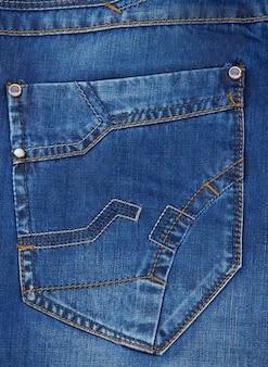 Jeans fondo azul textura de bolsillo