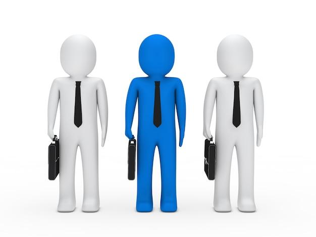Jefe con dos trabajadores