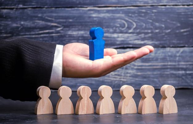 Jefe de equipo liderazgo. líder de negocios. éxito y logros del equipo.