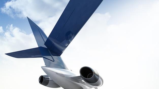 Jet de aviones privados en el cielo