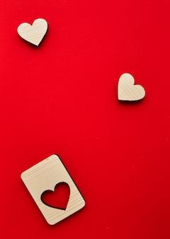 Jigsaw valentines day corazones de madera.