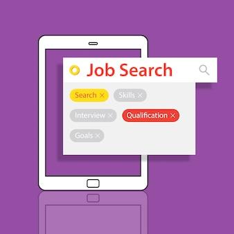 Jon search currículum vitae de contratación