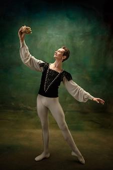 Joven bailarina de ballet como un personaje de blancanieves modernos cuentos de hadas