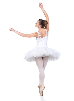 Joven bailarina de ballet hermosa