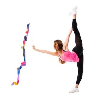 Joven bailarina sobre aislado