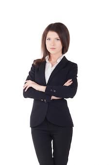 Joven empresaria - fondo de estudio