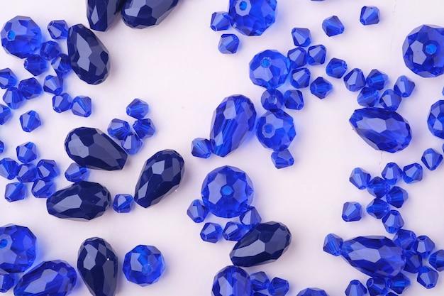 Joyas gemas cuentas de color azul y azul oscuro