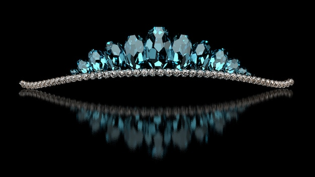 Joyas de lujo - diadema de boda. representación 3d