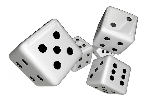 El juego blanco corta en cuadritos aislado en blanco. 3d rindió la ilustración.