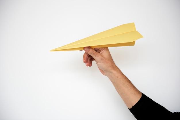 Juego de lanzamiento de origami de papel plano