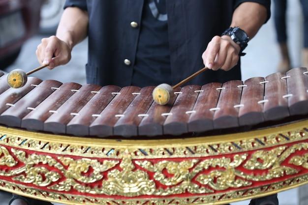 Juego de mano tailandia madera xilófono alto