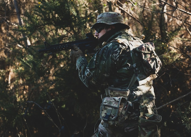 Juego militar de airsoft