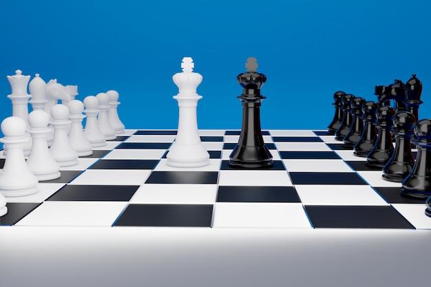 Juego de tablero de ajedrez para ideas y competición y estrategia.