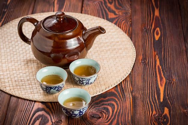 Juego de té asiático