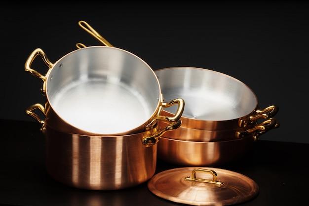 Juego de utensilios de cobre