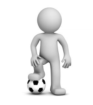 Jugador de fútbol 3d
