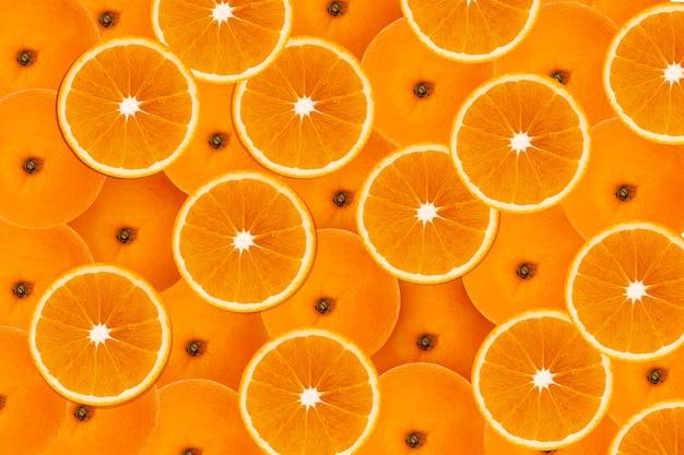 Jugosas rodajas de lima limón y naranja