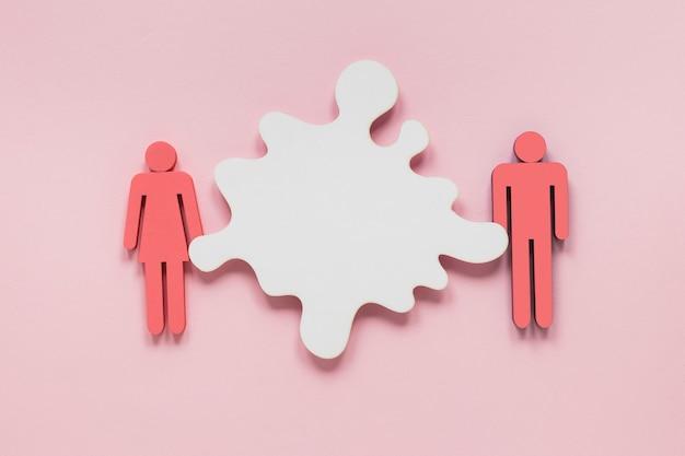 Juguete colorido hombre y mujer concepto