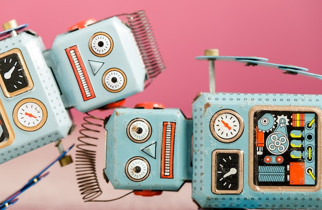 Juguete de hojalata robot retro vintage