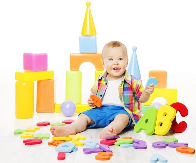 Juguetes educativos para bebés, letras coloridas de abc para niños, educación infantil
