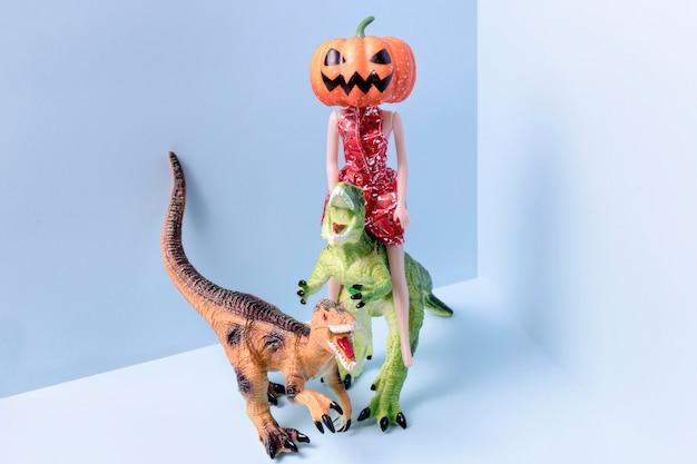 Juguetes de halloween espeluznantes de primer plano
