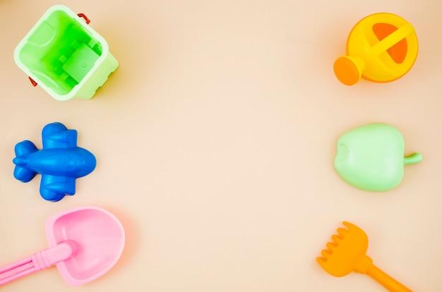Juguetes de playa planos para niños