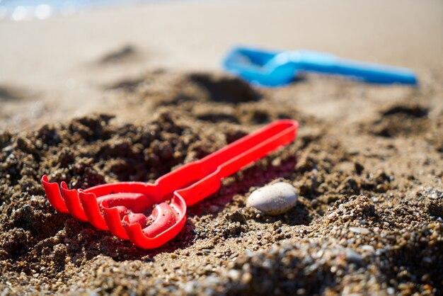 Juguetes en la playa