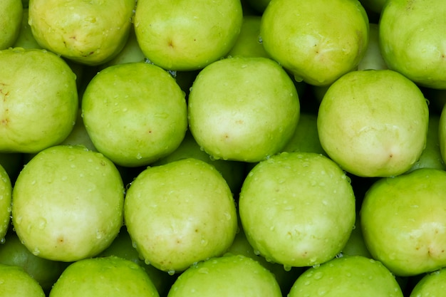Jujube fruits, mono manzana en el mercado