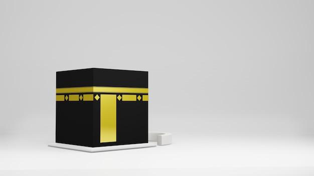 Kaaba en masjid render 3d