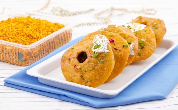 Kachori dulce tradicional indio