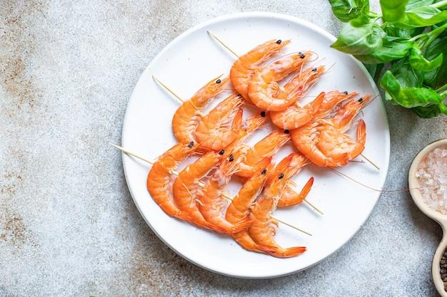 Kebab de gambas brocheta de marisco gambas especias adobo snack