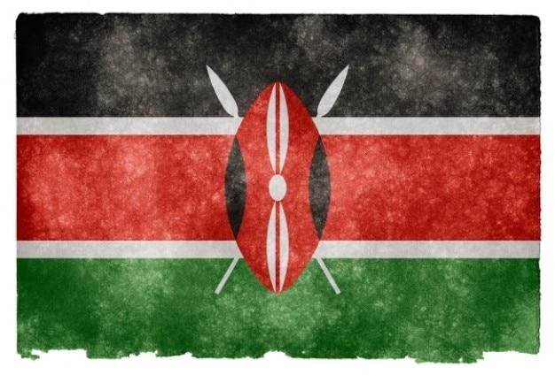 Kenia grunge bandera