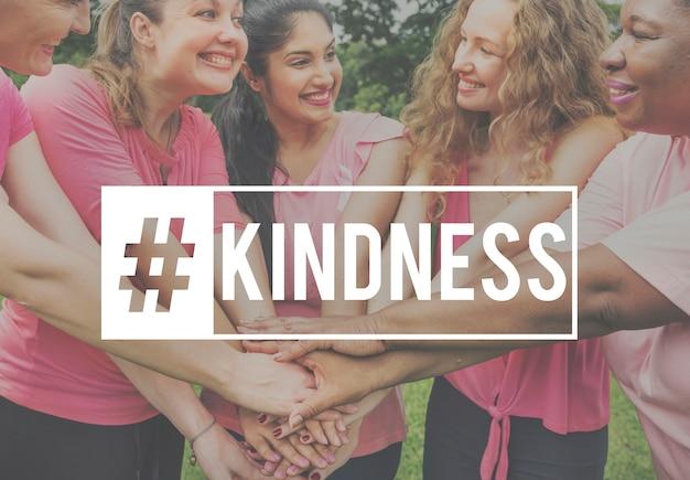 Kindness helping service share voluntario de ayuda