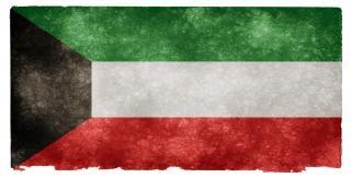 Kuwait grunge bandera