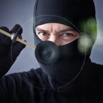 Ladrón en acción