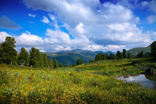 Lago de las montañas
