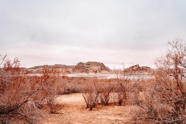 Lago powell en arizona, estados unidos gran cañón