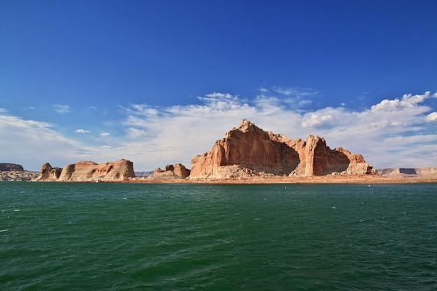 Lago powell en arizona, paige, ee.uu.