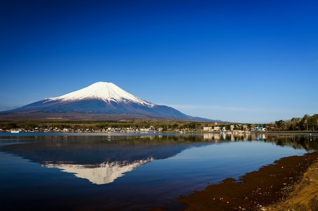 Lago yamanaka y montaña fuji