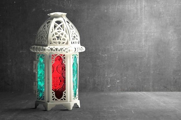 Lámpara árabe con luz de colores