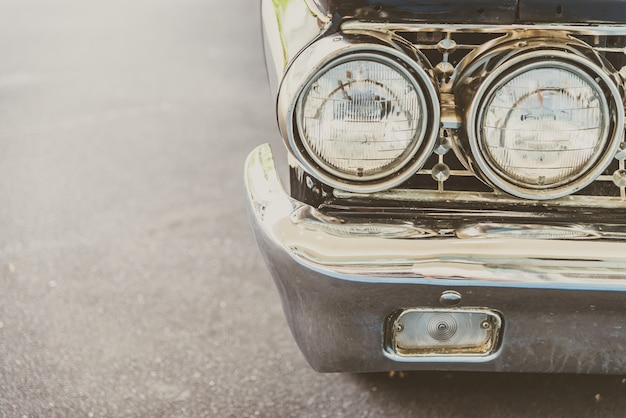 Lampara faro de carro clasico vintage