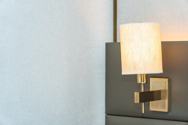 Lámpara de luz eléctrica decoración interior de bedroomb